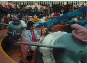 Frannie and Marijke at the fair