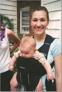 Marijke with baby Harper
